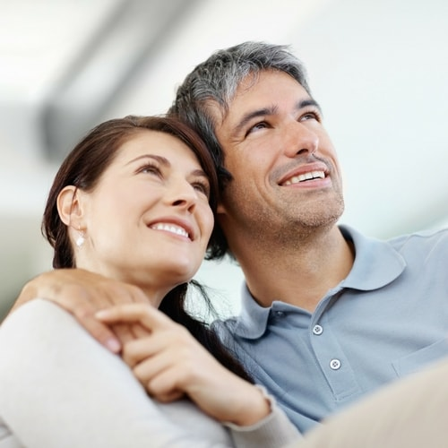 Couple enjoying the results of cosmetic dentistry in Renton